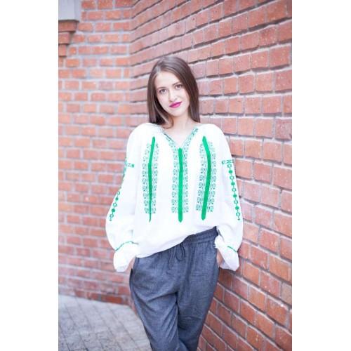 Ia românească, ia tradiţională: Adele blouse - Green