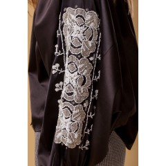Silk Lotus Blouse - Black