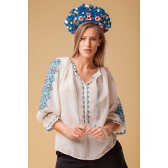 Majestic Daughter Romanian Blouse - Blue