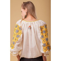 Majestic Daughter Romanian Blouse - Yellow
