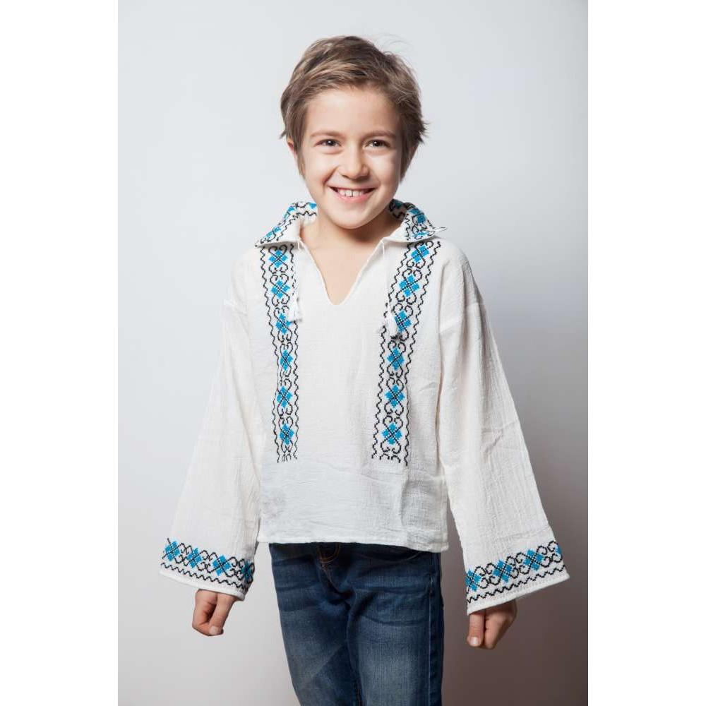 Romanian Blouse for boys - Bell flower